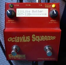 CHUNK SYSTEMS Octavius Squeezer Bass Synth Multi-effect Pedal WITH POWER ADAPTER