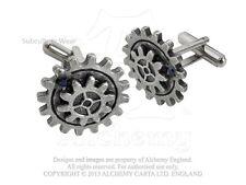 Alchemy Empire Spur Gear Cufflinks CL13, steampunk/Swarovski/gothic/mens/cogs