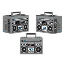 Feel The Beat BOOM BOX (3) Party Favor Boxes*Decoration 80's Party HIP HOP