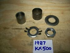 1987 KX500 MISC CLUTCH PARTS WASHERS SPACER BEARING & HUB NUT KX 500