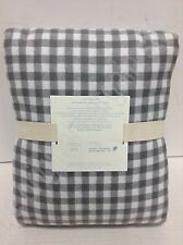 Pottery Barn Kids Buffalo Check Gingham Flannel bed Duvet Cover Twin Gray