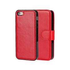iPhone 5/5s Cases 2 in 1 Detachable Red/ Black/Brown Leather Wallet Stand