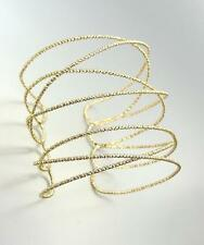 CHIC UNIQUE Urban Anthropologie Gold Ribbed Crisscross Wire Cuff Bracelet