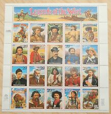 1993 LEGENDS OF THE WEST Stamps #2869 Pane of 20 - MINT
