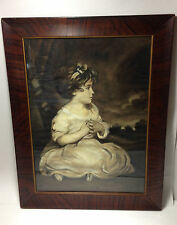 Vintage Art Print Age of Innocence  Sir Joshua Reynolds Art Deco Frame 13 x 18