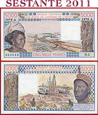 (com) WEST AFRICAN STATE IVORY COAST 5000 5.000 FRANCS 1978 - P 108Ab - XF/AUNC