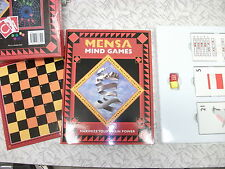 Mensa Mind Games Pack 1997 Mental Workout for Brain Dexterity and Sharp Thinking