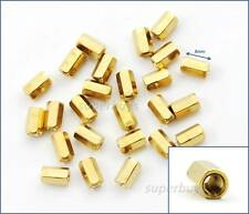 25pc 8mm M3 F-F Female Brass Hex Standoff Spacer Screw Separator Stand Off PCB