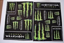 2 X Monster Energy Drinks Logo Sheet of 12 Stickers Decals ATV/Bike/Scateboard