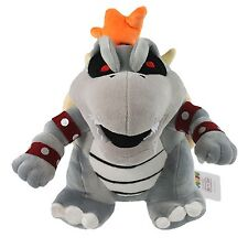 "Super Mario Bros.11"" Dry Bowser Bones Koopa Stuffed Animal Plush Soft Toy"