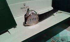 ROLEX CELLINI MEN'S   5115/D788174 GOLD CASE/LATIN DIAL  NEVER WORN/BOX/PAPERS