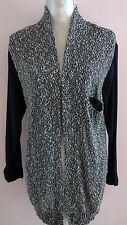 American Vintage womens black and ivory open cardigan size L