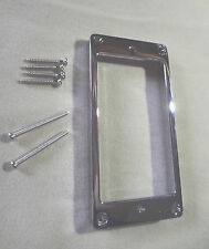 TALL METAL HUMBUCKER PICKUP RING SURROUND MIGHTY MITE CHROME 4 Electric Guitar