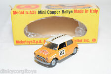 MEBETOYS A-31 A31 A 31 MINI COOPER RALLYE RALLY MUSTARD YELLOW NEAR MINT BOXED