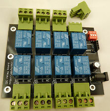 8 channel I2C IIC relay module board for Arduino and Raspberry Pi 12V or 5V UK