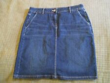 Jag Womens Blue Denim Skirt Size 10