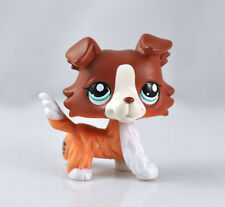Pet Collie Dog Child Girl Figure Cute Toy Loose LP842