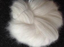 White Long Hair 100% French Angora Rabbit Yarn 20grms/70yds