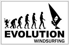EVOLUTION WINDSURFING - Board / Sports / Water / Novelty Sticker - 20 cm x 10 cm