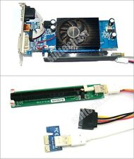 PCI-e express 1X to 16x Riser Extender Card with molex power+60CMS USB 3.0 Cable