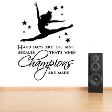 Gymnast Gymnastic,Girls Bedroom Quote, Vinyl Wall Art Sticker Decal #1