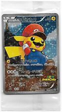 Pokemon Japanese Super Mario Pikachu Full Art Promo Card Sealed Pack 294/XY-P