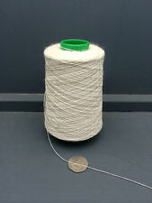 200G CONE 80% WOOL 20% BAMBOO YARN 2/22NM RAW WHITE ECRU