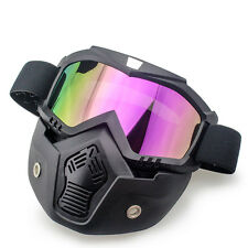 Motorcycle Helmet Colorful Riding Detachable Modular Face Mask Shield Goggles