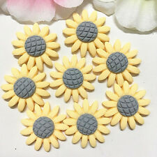 8pcs Yellow Sunflower 22mm Resin Flatback Cabochon ScrapbookIng For Phone/Craft~