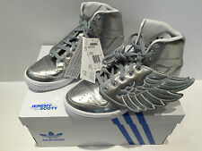 NEW Adidas Originals X Jeremy Scott Metal Silver Wings Shoes Trainers size UK 9