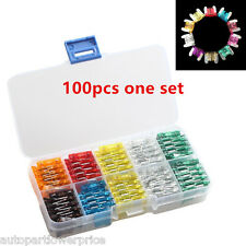 100pcs Autos Car Blade Type Fuse Assortment Fuse Box 5,7.5,10,15,20,25,30Amp