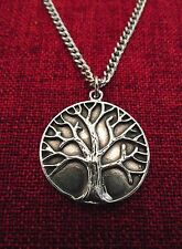 Tree of Life Celtic Pagan Wicca Oz made Pewter Stainless Steel Chain Necklace