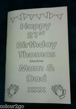 A5 Personalised 21st Birthday Activity Puzzle BOOK ~ Fun Present Gift Topsa card
