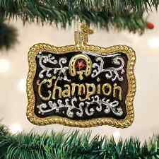 *Champion Buckle* Horse Western Belt [32246] Old World Christmas Ornament- NEW