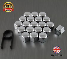 20 Car Bolts Alloy Wheel Nuts Covers 19mm Chrome For  Ford Focus TDCI