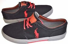 NEW POLO RALPH LAUREN Men FAXON FASHION BIG PONY SHOES SNEAKERS LEATHER PATCH 13