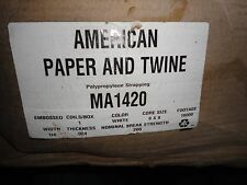 """AMERICAN PAPER AND TWINE MA1420 BOXED ROLL  18,000 FT. 1/4"""" INDUSTRIAL STRAPPING"""