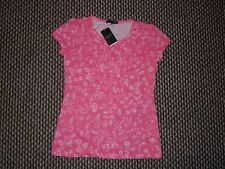 Hang Ten Pink & White T-Shirt Size M New with Tags