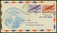 1947 FIRST AIRMAIL FLIGHT FAM 18-47 FROM NEW YORK TO KARACHI, INDIA (ESP#1757)
