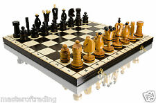 SuperB ROYAL INCRUSTED Large 50 x 50cm Hand Crafted Wooden Chess Set !!!
