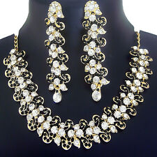 Indian Jewelry Bollywood Fashion Gold Necklace Traditional Earring Ethnic Set