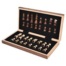 Wood Standard Game Wooden Chess Set Pieces Magnet Portable Hand Carved Board Box
