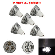 5PCS 3W MR16 LED Spot Light Lamp 6000K Pure White Spotlight Energy Saving 12V