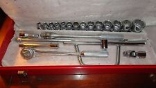"""Williams 1/2"""" Drive Williams SAE Socket Set with Case  Nos !"""