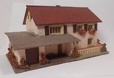 Vintage Faller HO 00 Composition Stucco House With Garage 257