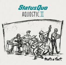 STATUS QUO AQUOSTIC II (2) THAT'S A FACT! CD ALBUM (October 21st 2016)