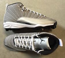 Nike Jordan 12 XII Retro MCS Baseball Cleats White size 11 (# 854566-100)