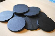 12 x 60mm model bases. warhammer 40k. good quality thick & flat miniatures model