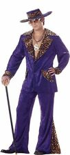 Purple Velvet & Leopard PIMP Halloween Costume Men Adult L Large Free USA Ship