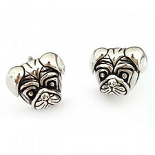 3D Detailed Pug Face Cufflinks in Gift Box pug dog lover bulldog canine AJ689